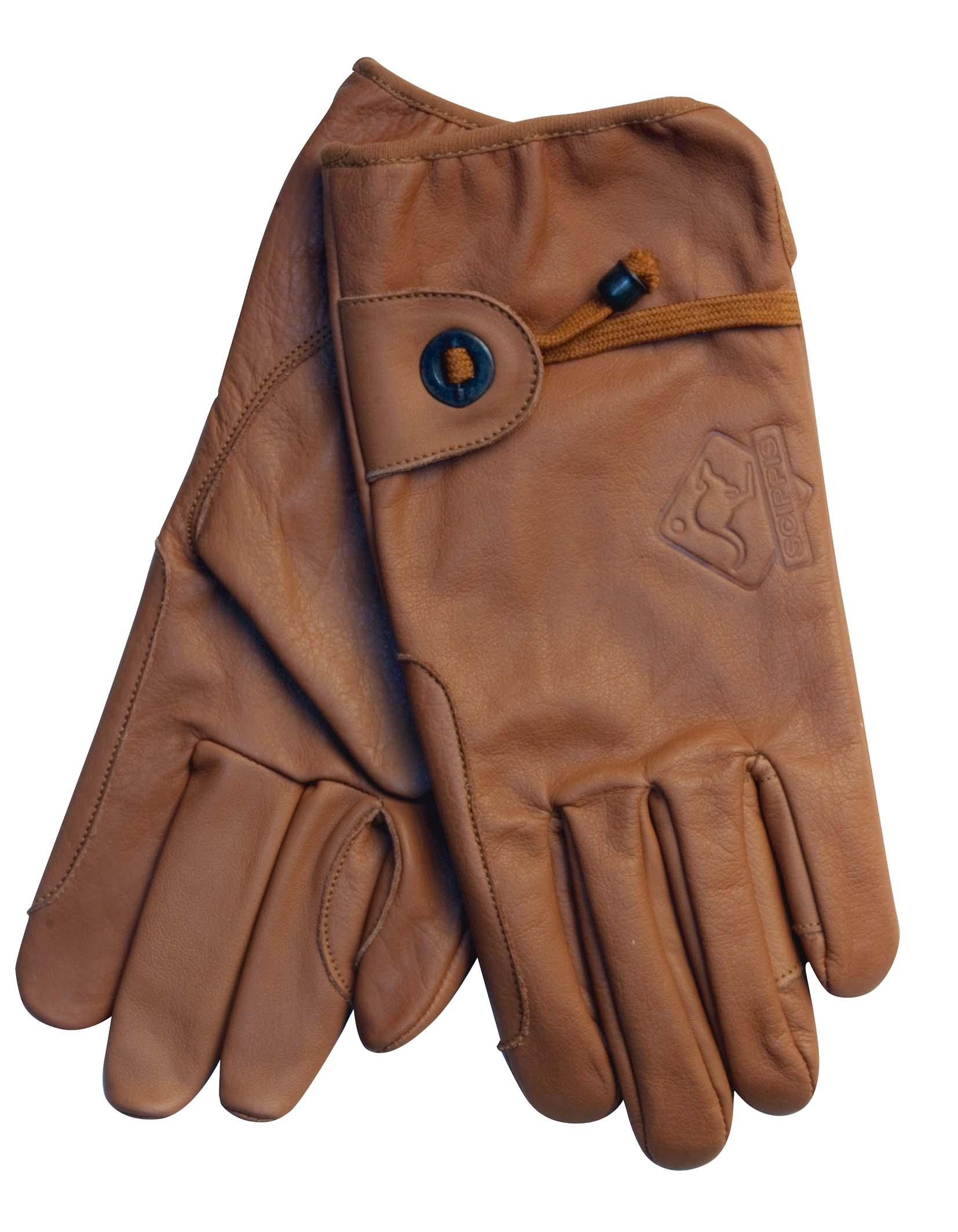 Scippis Leder Handschuhe-Braun-L