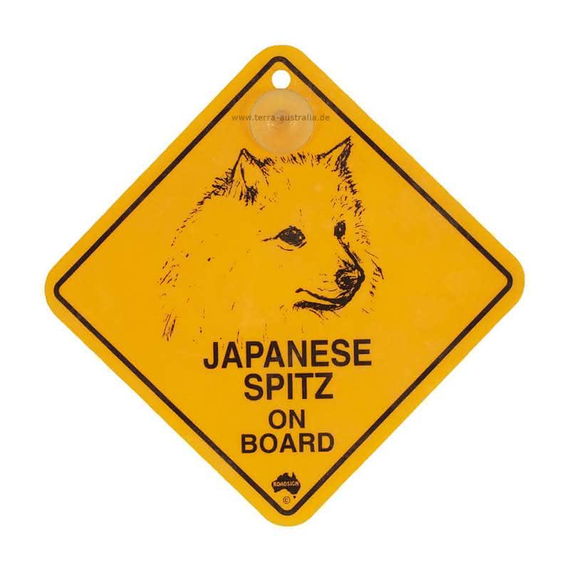 """Roadsign """"Hunde-Swinger - Japanese Spitz"""""""