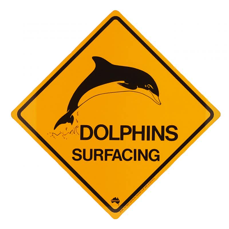 """Roadsign """"Dolphins""""-mittel"""