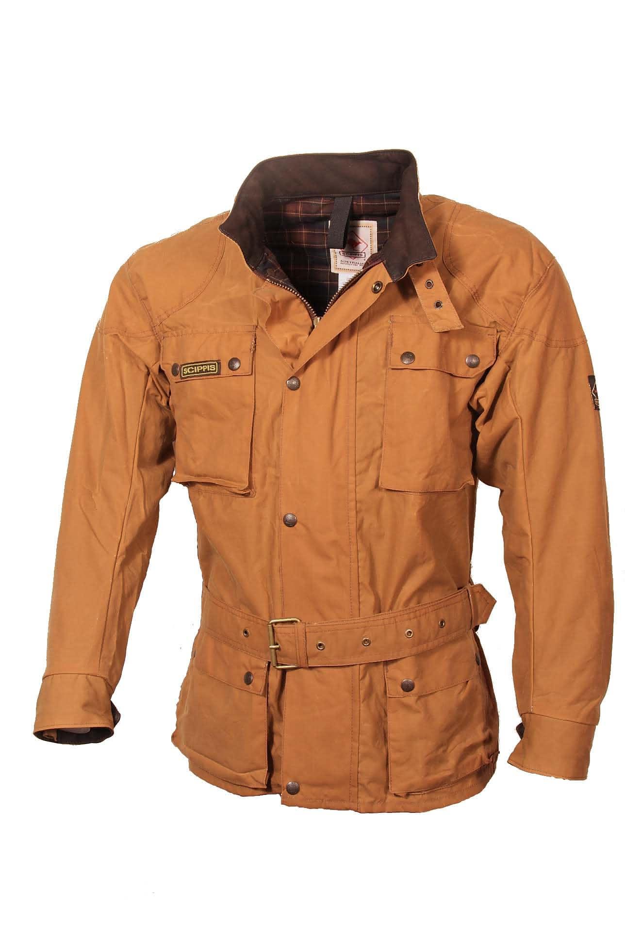 Scippis Belmore Jacket - 2J16 - Tan-XL