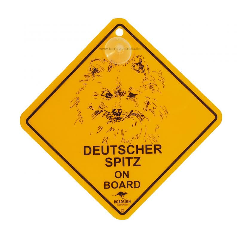 "Roadsign ""Hunde-Swinger - Deutscher Spitz"""